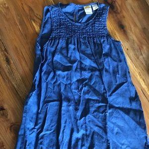 100% Linen Dress, blue